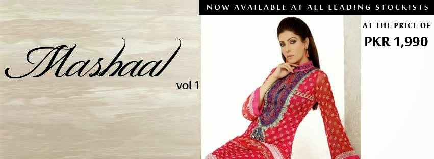 Mashaal Lawn Prints 2014 Out Now