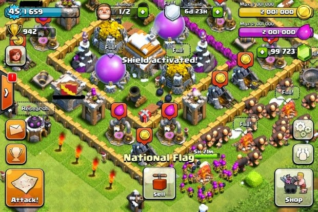 result from clash of clans hack