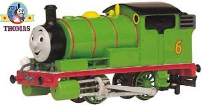 Toy scale model HO railway Bachmann Thomas and friends Percy the small engine train set moving eyes