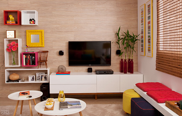 Sala De Tv Simples E Aconchegante ~ inspiração de sala de estar