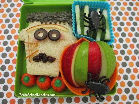 Halloween Frankenstein bento
