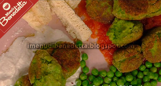 Polpette di Piselli alle 2 Salse di Benedetta Parodi