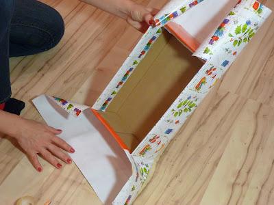 Как обклеить коробку с подарком 18