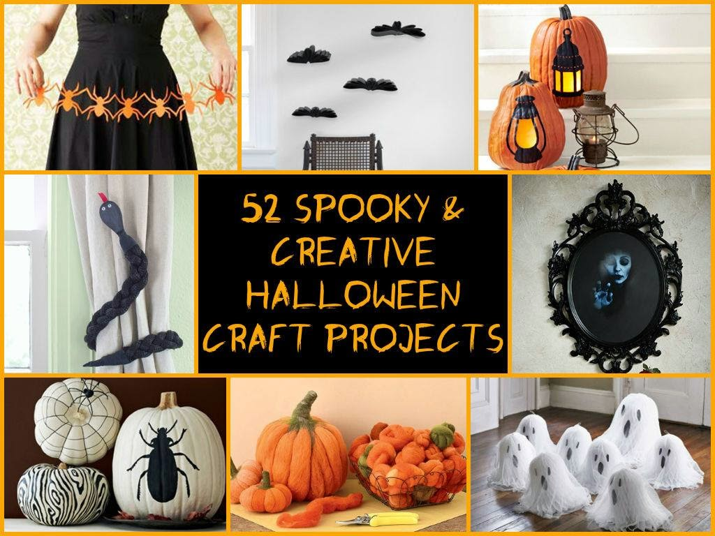 52 Spooky Creative Halloween Craft Projects Creative Ideas