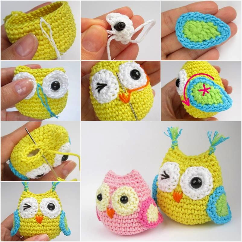 DIY Adorable Crochet Owl