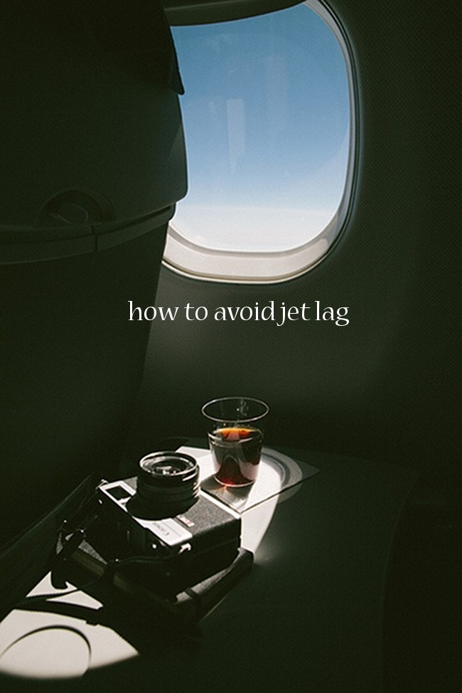 how to avoid jet lag via Randomly Happy