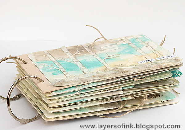 Layers of ink - Winter Journal Tutorial by Anna-Karin