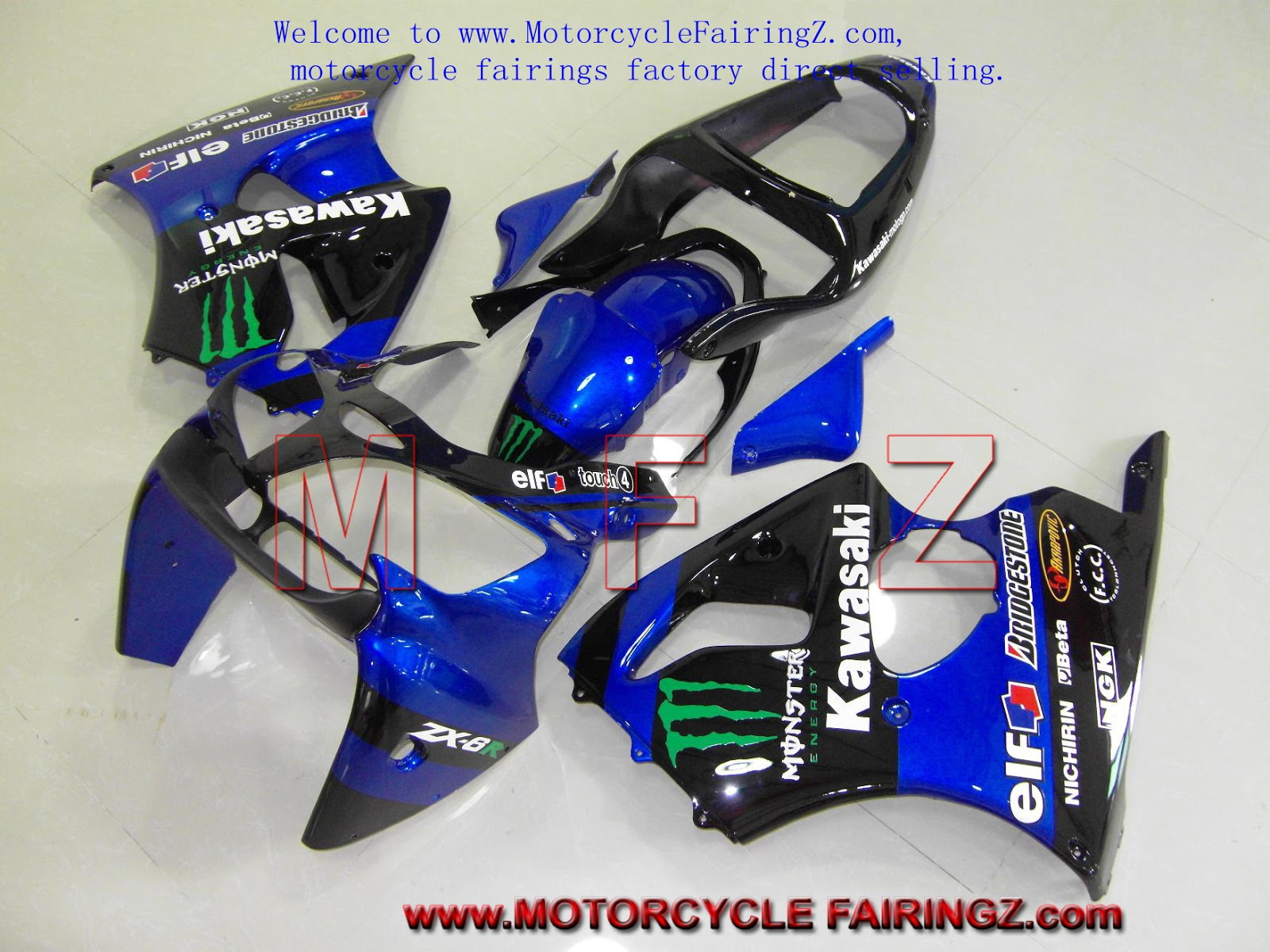 Motorcycle Fairing at motorcyclefairingz  KAWASAKI ZX 6R 00 02