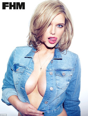 Helen Flanagan cleavage in FHM