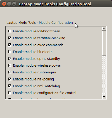 Laptop Mode Tools Configuration Tool