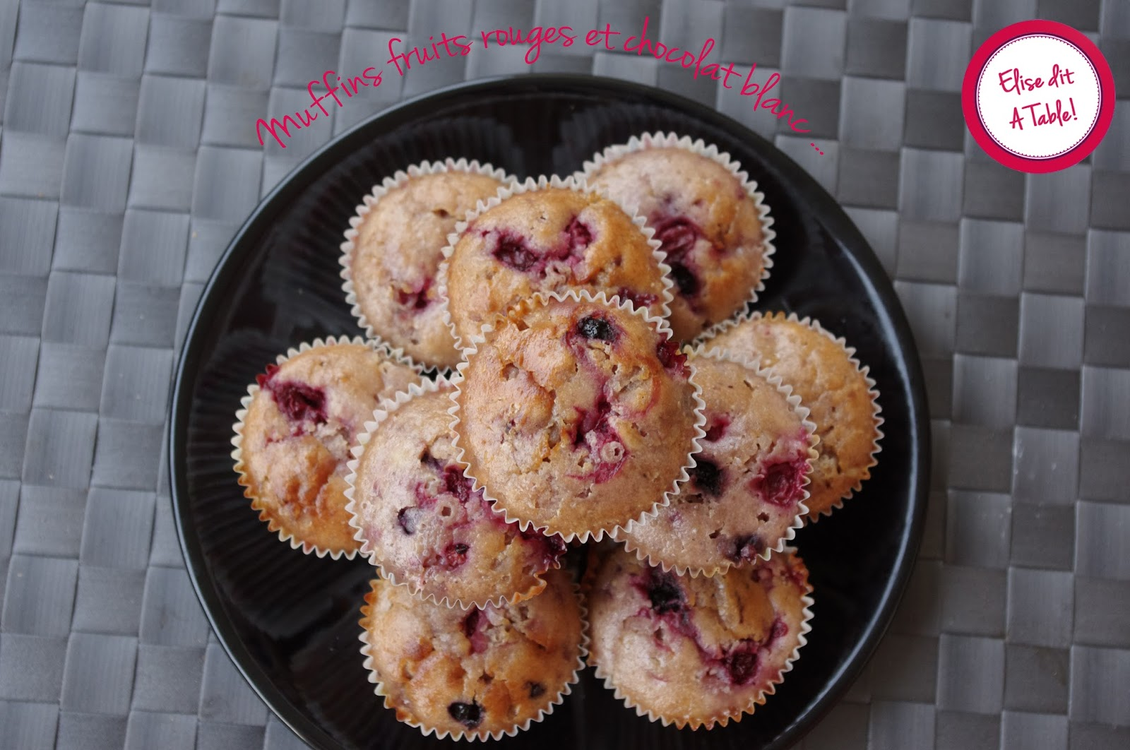 recette muffins fruits rouges