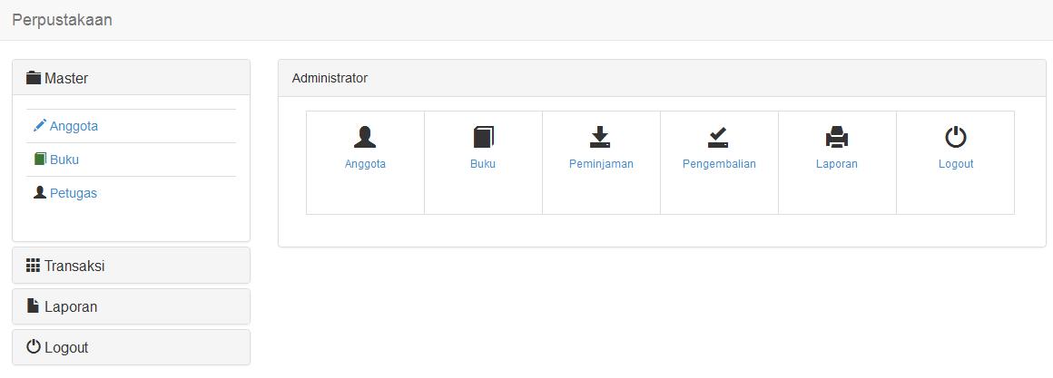 Source code aplikasi perpustakaan php