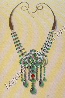 One of Boucheron's many designs for Bhupindar Singh of Patiala in 1928, this traditional-style necklace was intended to make the most of the maharaja's almost fathomless collection of emeralds.
