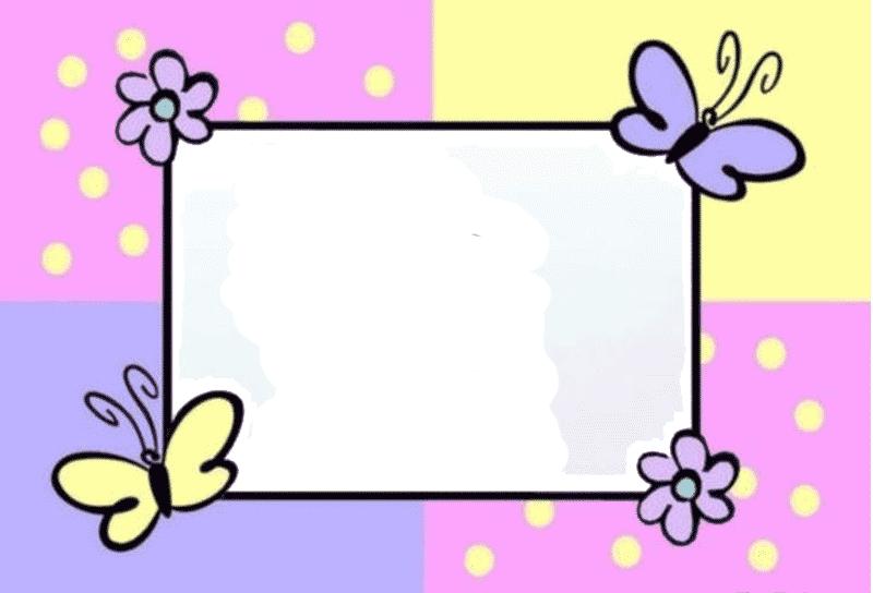 Decorar fotografias con marcos infantiles imagenes y dibujos para imprimir - Marcos para decorar ...