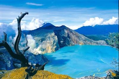 wisata kawah ijen, rute wisata kawah ijen, tiket masuk, mendaki