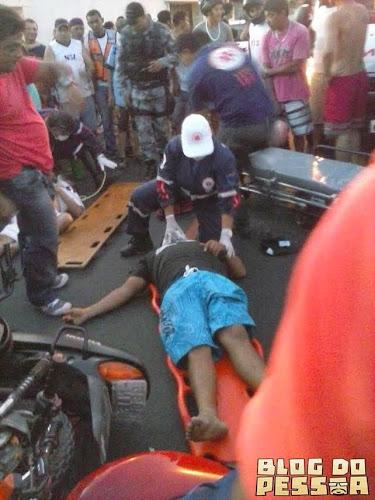 Colisão entre motos deixa duas pessoas feridas no bairro Santa Luzia em Parnaiba