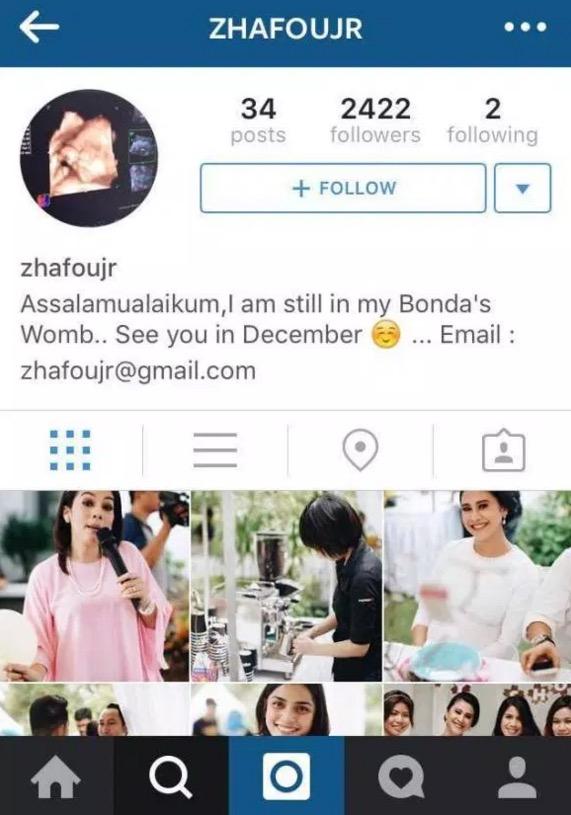 Kontroversi Instagram anak dalam kandungan Fouziah Gous