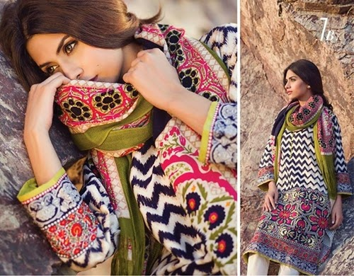 Sana Safinaz Winter Shawls Collection 2014-15