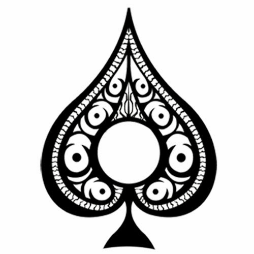 Ace of spades symbol tattoo stencil