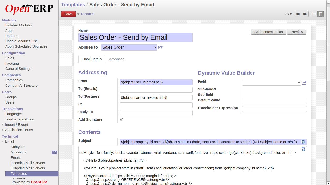 email servers settings