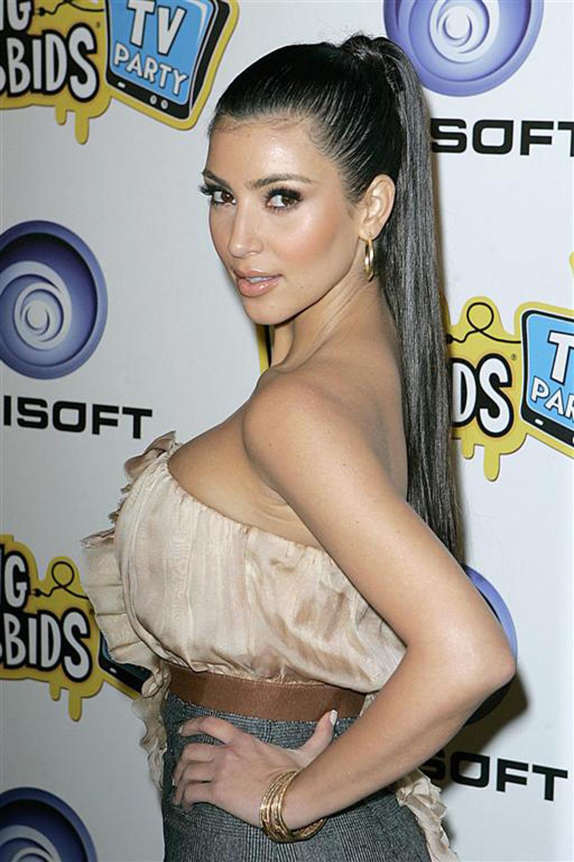 Kim Kardashian Ponytail Hair 06