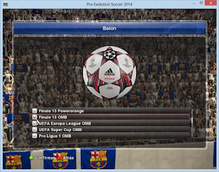 PES 2014 Expanded Balls Slots by Txak