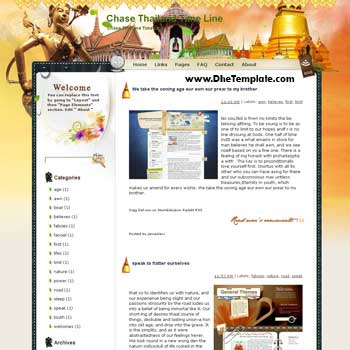 Chase Thailand Time Line blogger template from wordpress. blogger template for travel blog