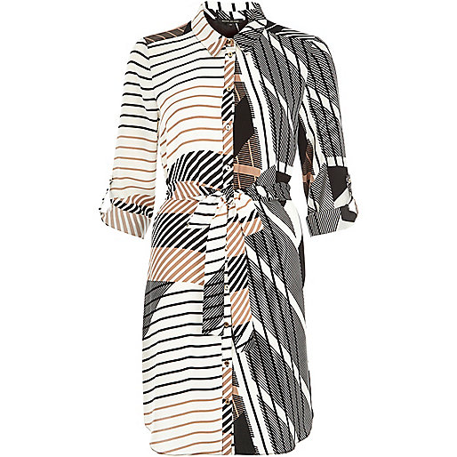river island shirt dress, printed shirt dress,