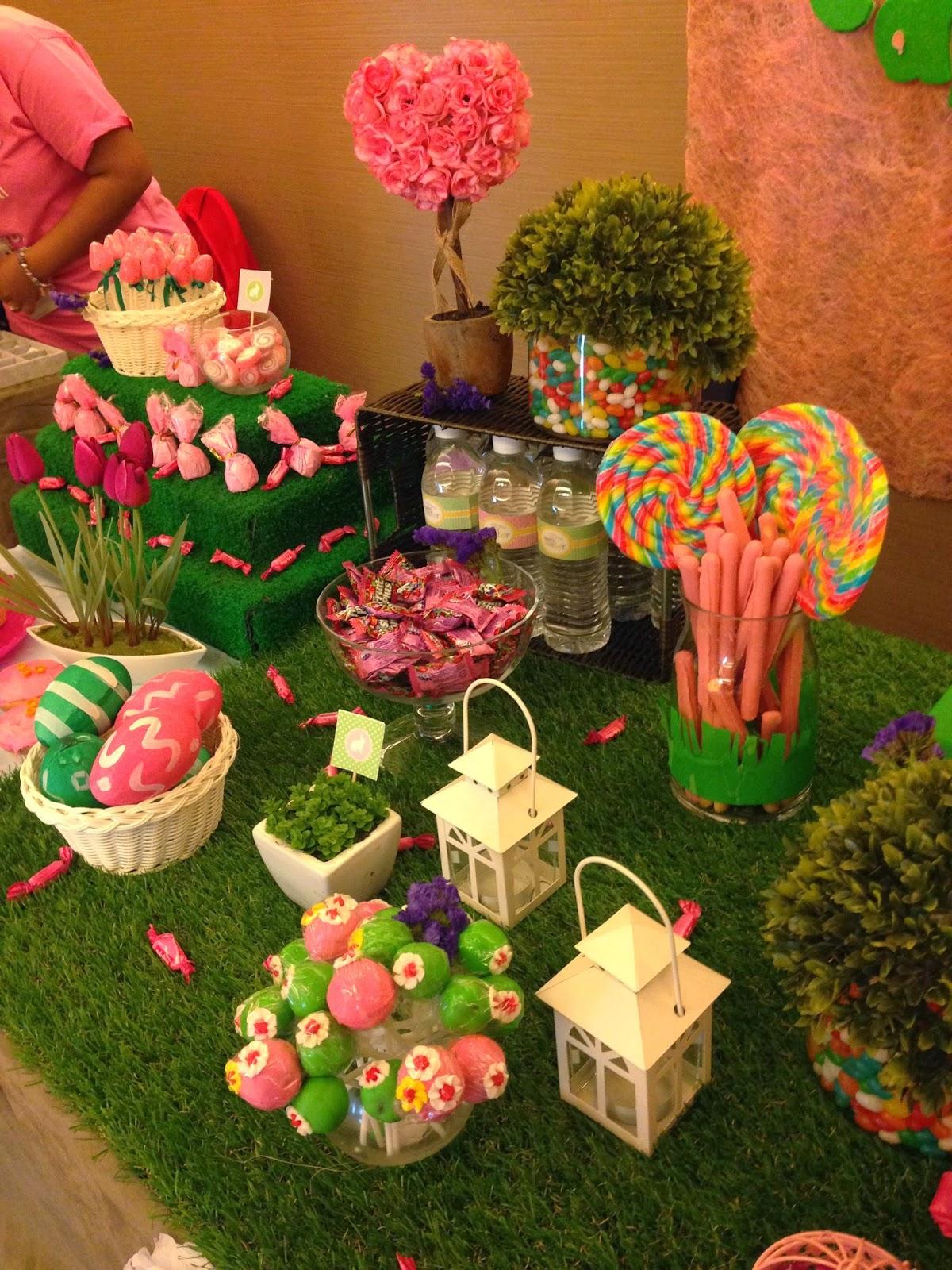 Pink and green candy buffet images - Decoracion dia de la madre ...