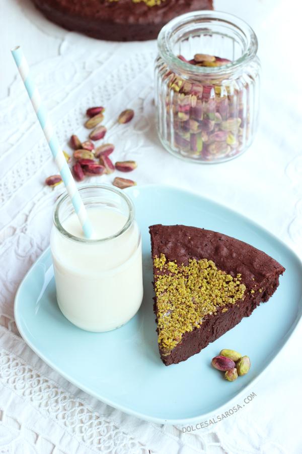 torta al cioccolato e pistacchi di bronte...senza farina
