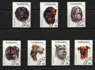 1993年タンザニア連合共和国 ニューファンドランド ゴードン・セター イングリッシュ・スプリンガー・スパニエル トイ・テリア フォックス・テリア シュナウザー ラブラドール・レトリーバーの切手