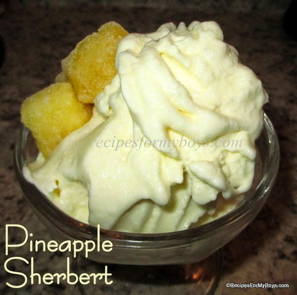 sherbert, ice cream, frozen pineapple, Jell-O