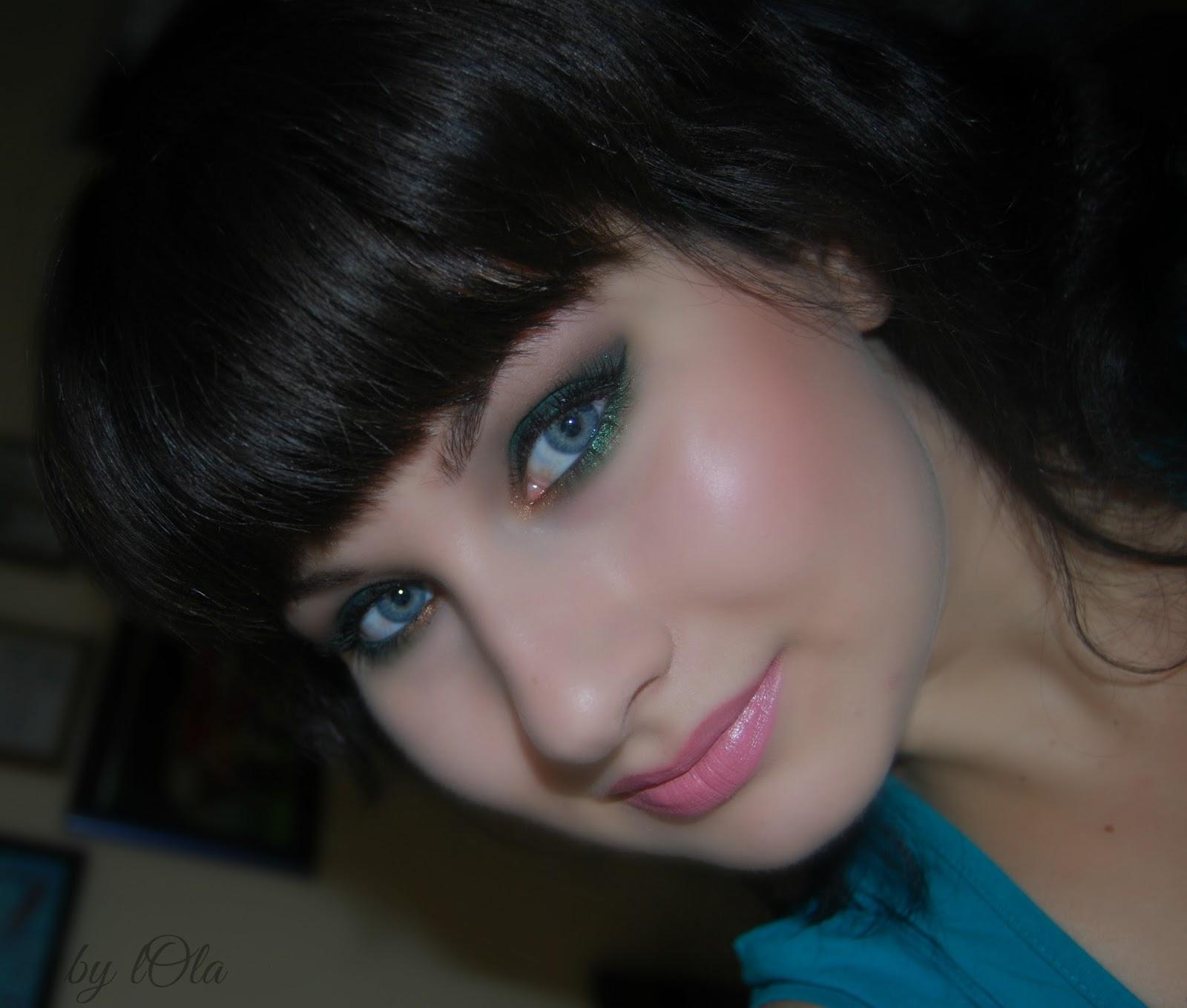 makijaż, emerald green, zielony makijaż, wieczorowy