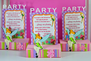Fairy Tinkerbell Pop Up Birthday Invitations