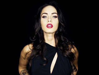 Sexy Megan Fox Red Lips HD Wallpaper