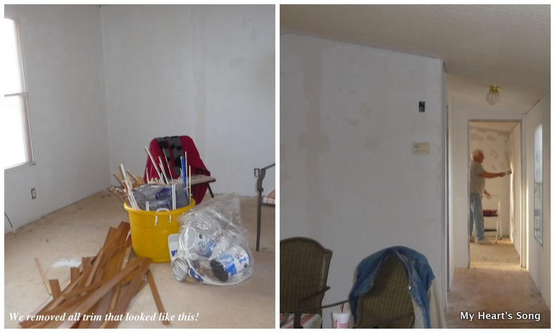 Painting textured mobile home walls home painting for Painting mobile home walls