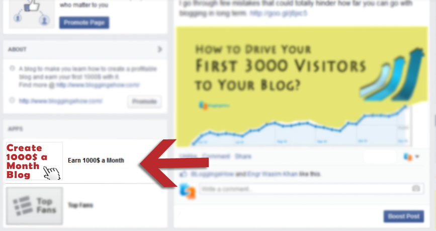 facebook tab bloggingehow