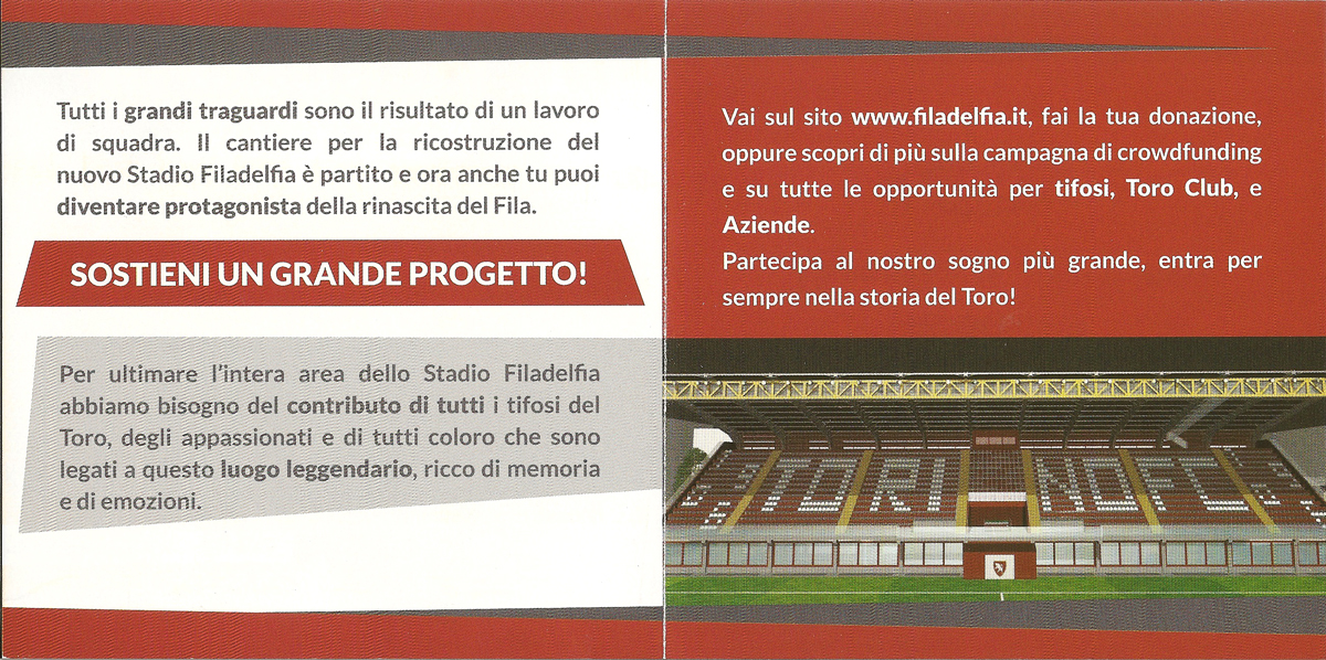 ricostruzione stadio filadelfia crowdfunding