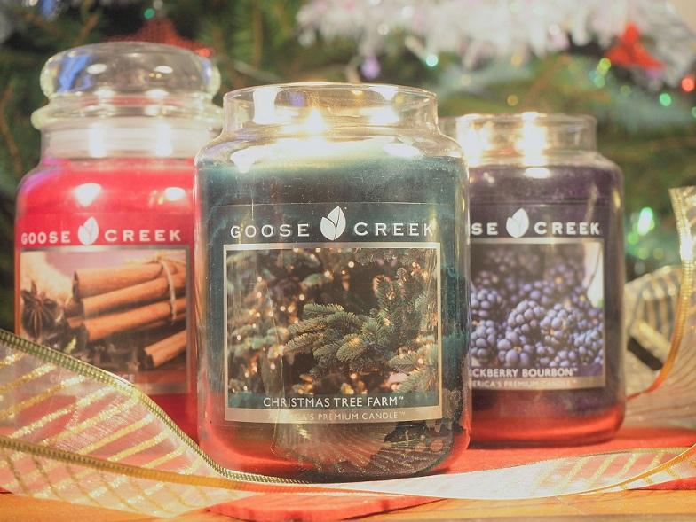 We candle, bougies, parfumées, noel, goose creek, yankee candle, american, jarre, idée