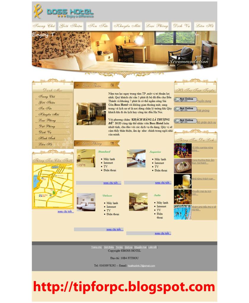 Đồ án tốt nghiệp Mã nguồn Website Giới thiệu Khách Sạn