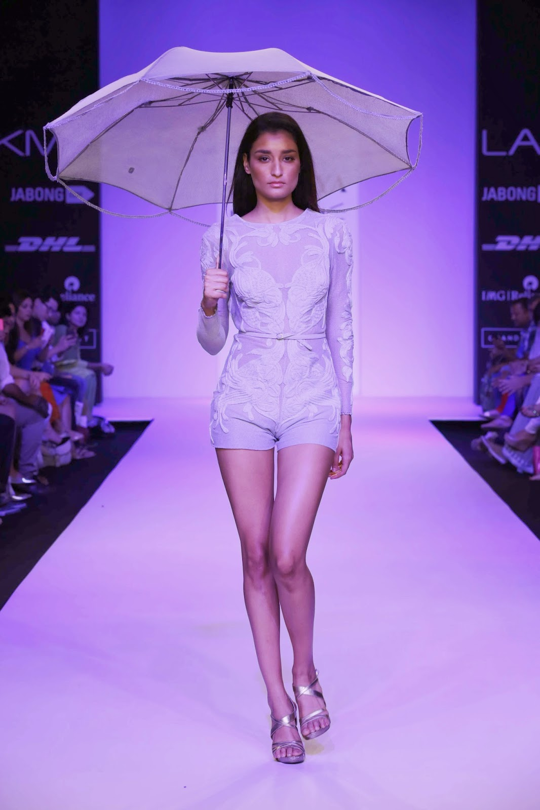 "As the lights flashed on the ramp, Surya Sarkar unveiled his very lyrical collection called ""Song of the Little Road"" at Lakmé Fashion Week Summer/Resort 2014."