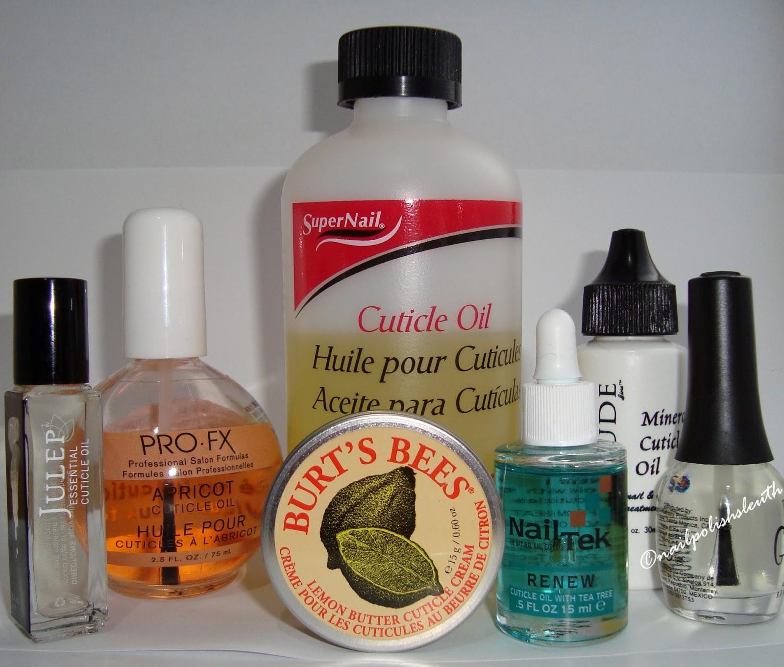 Keep Nail Polish Off Cuticles: Polish Sleuth : Cuticle & Nail Moisturizer Products