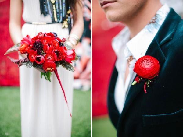 """Hoa cưới đẹp 1 màu """" ton sur ton"""" không hề đơn điệu8"""