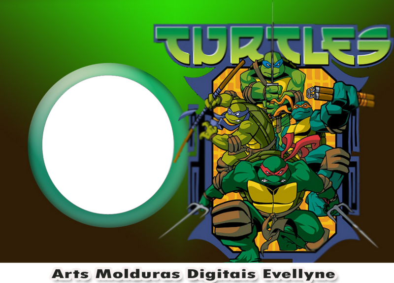 Arts Molduras Digitais Evellyne Tartaruga Ninja