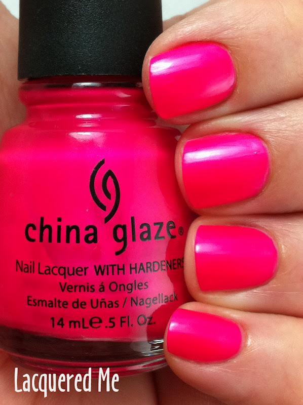 China Glaze Purple Panic Neon Pink Wednesday