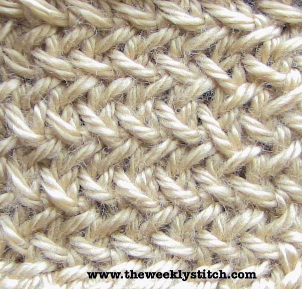 Knitting Herringbone Stitch In The Round : Little Herringbone Stitch The Weekly Stitch