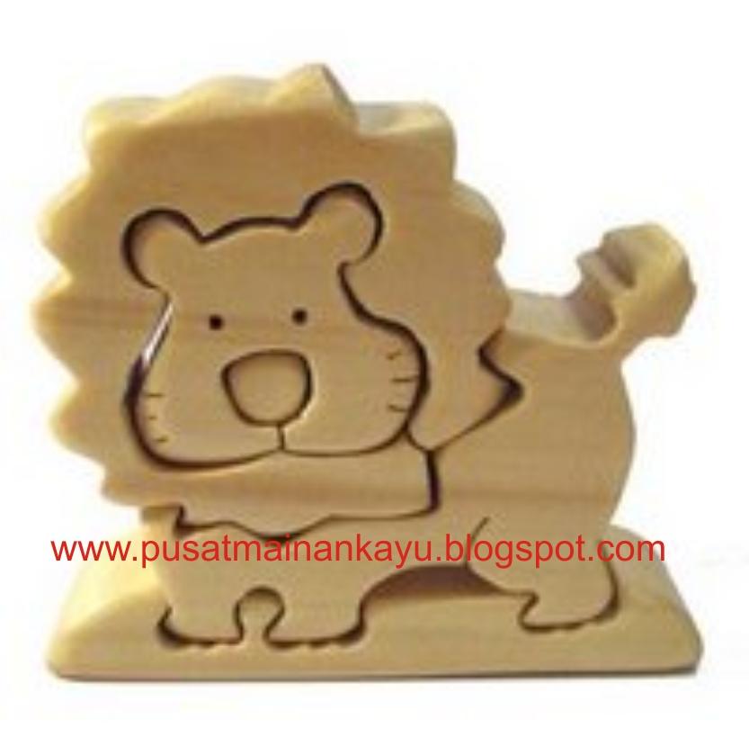puzzle kayu (wood puzzle / wooden puzzle) 3D singa