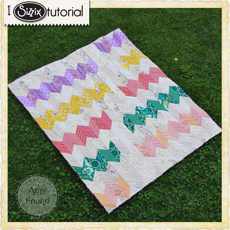Sizzix Die Cutting Inspiration And Tips Trending Chevron Lap Quilt