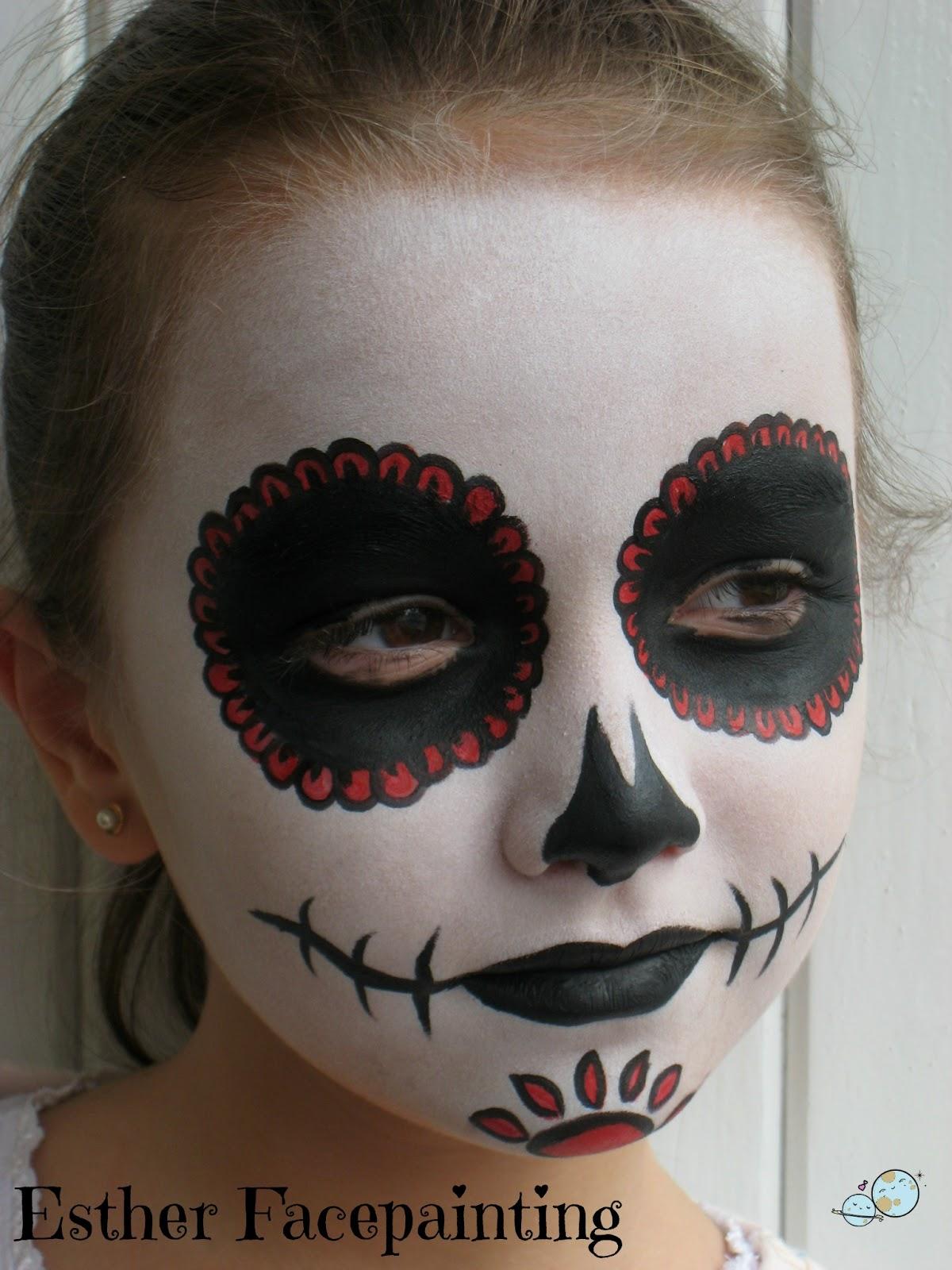 Maquillaje de halloween para ni os calavera mexicana for Pinturas de cara para halloween