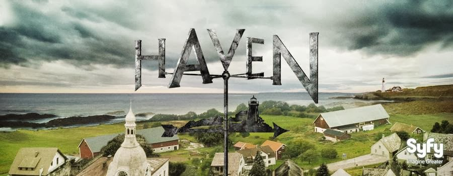 Panoramic view of Haven, Maine, with logo